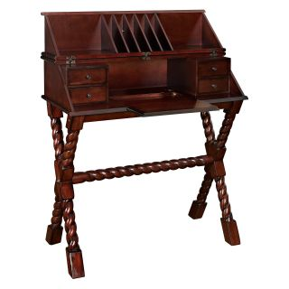 Powell Bombay Collection Voyager Secretary Desk   Writing Desks