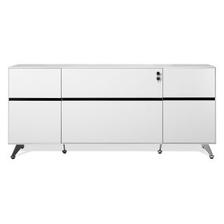 Jesper 400 Collection Storage Credenza   White   File Cabinets