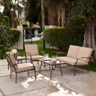 Bellagio 5 pc. Aluminum Conversation Set  Seats 4   Conversation Patio Sets