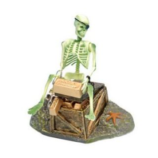 Skeleton On Chest Action Air Ornament   Aquarium Plants & Decorations