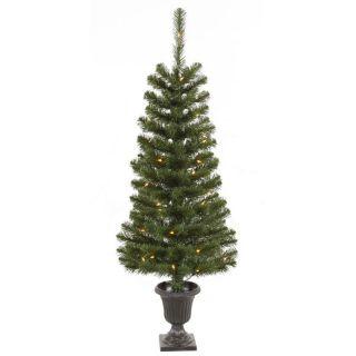Vickerman 4 ft. Potted Spruce Pre Lit Christmas Tree   Christmas Trees