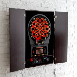Arachnid Cricket Pro 800 Electronic Dart Board with Heckler Feature and Cabinet   Electronic Dart Boards