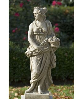 Campania International Four Seasons   Spring   Cast Stone Garden Statue   Garden Statues