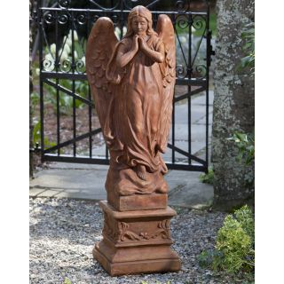 Campania International Canterbury Angel Cast Stone Garden Statue   Garden Statues