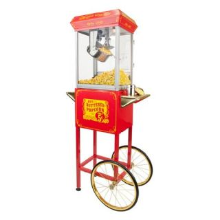 FunTime FT454CR Sideshow Popper Hot Oil Popcorn Machine with Cart   Commercial Popcorn Machines