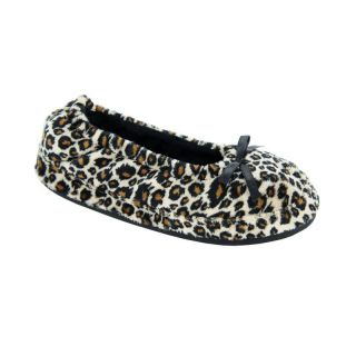 Abigail Womens Slip on Slippers by Daniel Green   Cheetah   Womens Slippers