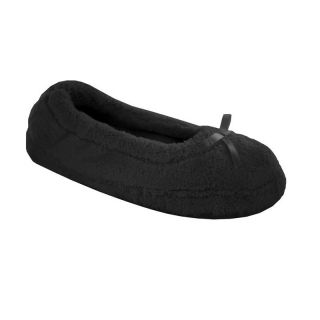 Abigail Womens Slip on Slippers by Daniel Green   Black   Womens Slippers
