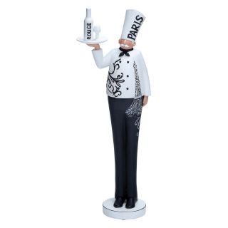 Resin French Chef Statue   20H in.   Sculptures & Figurines