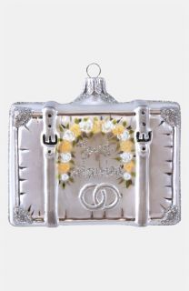 at Home Married 2012 Glass Suitcase Ornament
