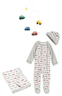Flensted Mobiles Mobile & Little Me Receiving Blanket, One Piece & Hat (Baby Boys)