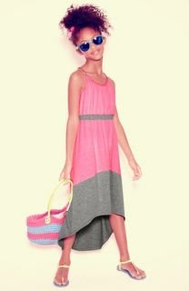 Paper Doll Maxi Dress, Icon Eyewear Sunglasses & Capelli of New York Tote (Little Girls & Big Girls)