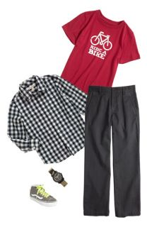 Tucker + Tate T Shirt, Woven Shirt & Chinos (Little Boys)