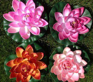 Lotusbl�te Lotusblume Seerose 17 cm gro� k�nstliche Blumen sehr original wie echt Deko Teichrose: Küche & Haushalt