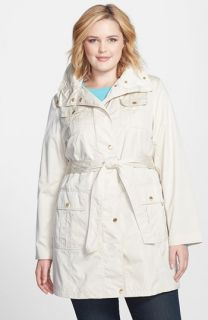 Ellen Tracy Techno Trench Coat (Plus Size)