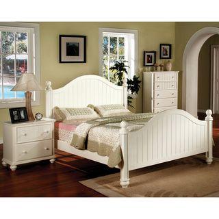 Furniture of America River Stream White Cottage Style 2 piece Bedroom Set Furniture of America Kids' Bedroom Sets