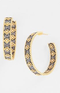 Freida Rothman Chelsea Clover Station Hoop Earrings