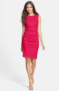 Nicole Miller Stretch Linen Sheath Dress