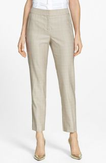 St. John Collection Emma Windowpane Check Crop Pants