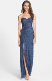 Sean Collection Beaded Strapless Gown