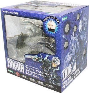 Kotobukiya Trigun Vash The Stampede Gunman in Black ArtFXJ Statue: Toys & Games