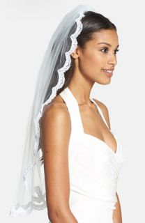 Wedding Belles New York Lola   Swarovski Crystal Lace Border Veil