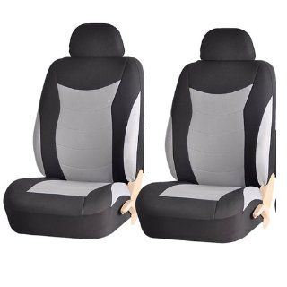 Speed Racing 184 Style Gray & Black Front Low Back Airbag Comaptible Seat Covers Set Universal Automotive