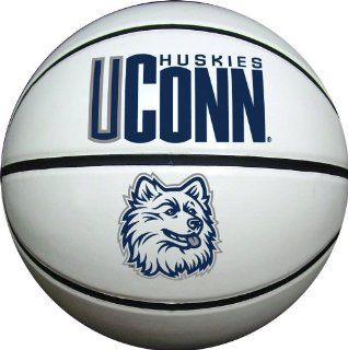 Connecticut Huskies Official Size Synthetic Leather Autograph Basketball : Uconn Basketball : Sports & Outdoors
