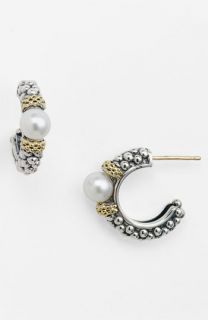 Lagos Luna Pearl Caviar™ Hoop Earrings