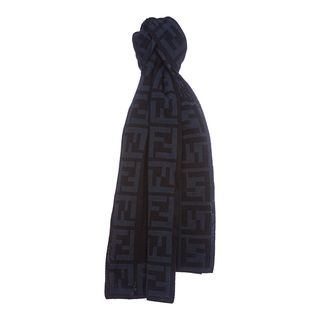 Fendi Zucca Border Knit Scarf Fendi Designer Scarves & Wraps