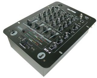 Profi 4 Kanal DJ PA Mixer DJ Equipment Party Anlage Mischpult MX 4 schwarz: Musikinstrumente