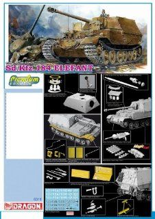 1/35 Elefant, Sd. Kfz 184   Premium Edition Kit Model anti tank Ferdinand Mr. Ferdinand Porsche German Nazi Tank armored military vehicle WWII World War 2 two II: Toys & Games