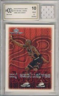 1999/00 Upper Deck MVP #191 Michael Jordan with Piece of Authentic Michael Jordan Chicago Bulls Game Used Jersey Graded BGS BECKETT 10 MINT GGUM Card : Sports Related Trading Cards : Sports & Outdoors