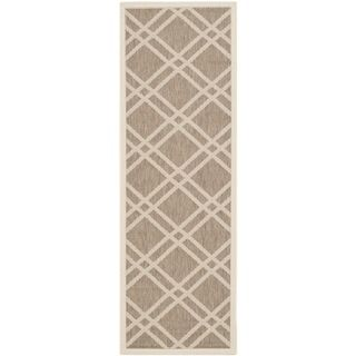 Safavieh Indoor/ Outdoor Courtyard Brown/ Bone Rug (2'3 x 6'7) Safavieh Runner Rugs