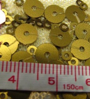 Mixed Matte Sequins on Stretch Nylon Mesh Gold 58 Inch Wide Fabric By the Yard (12065 9) (F.E.�): Arts, Crafts & Sewing