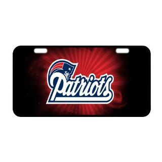 Custom New England Patriots Metal License Plate Frames WA 189 : Sports Fan License Plate Frames : Sports & Outdoors