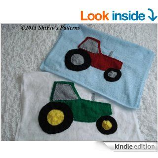 Knitting Pattern   tractor motif baby blanket afghan #189 eBook: ShiFio's Patterns: Kindle Store
