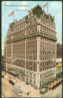 Hotel Knickerbocker New York City postcard 191?: Collectibles & Fine Art