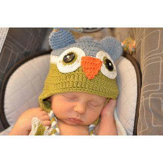 Baby Boy Owl Beanie Hat (6 8 years): Clothing