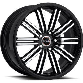 Raceline Bremtech 17 Black Wheel / Rim 5x4.5 with a 50mm Offset and a 74.1 Hub Bore. Partnumber 199 79512+50: Automotive