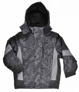 "SNOZU ""Grey Print"" Boys Fleece Sweater & Outerwear Coat (4): Clothing"