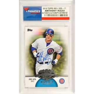 Anthony Rizzo Chicago Cubs Autographed 2013 Topps MM #MM 17 Card