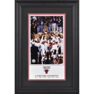 Chicago Bulls 6 Time NBA Champions 10 x 18 Framed Legacy Print