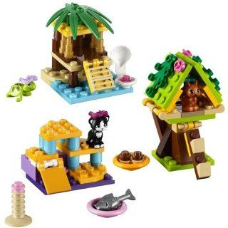 LEGO Friends Series 1 Complete Set: Turtle's Little Oasis; Cat's Playground; Squirrel's Tree House: Toys & Games