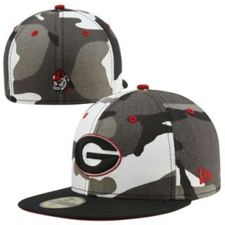 New Era Georgia Bulldogs Urban Camo 59FIFTY Fitted Hat   Black/White