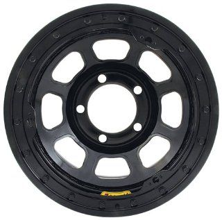 Bassett Wheel D Hole Lightweight Beadlock Black Powder Coat   15 x 8 Inch Wheel Automotive