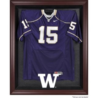 Washington Huskies Maghony Framed Logo Jersey Display Case