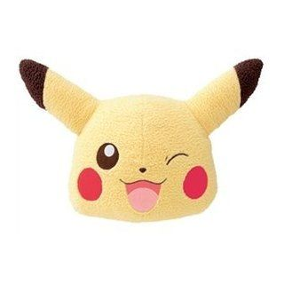 "17"" Pokemon I LOVE PIKACHU Giant Face Cushion Pillow Plush  Winking Pikachu (#47493): Toys & Games"