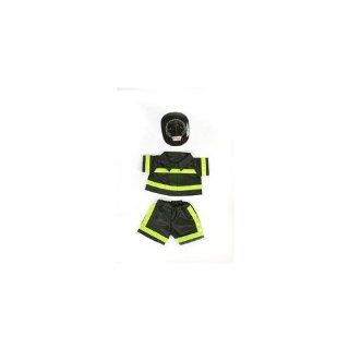 "Fireman Outfit Teddy Bear Clothes Fit 14""   18"" Build a bear, Vermont Teddy Bears, and Make Your Own Stuffed Animals: Toys & Games"