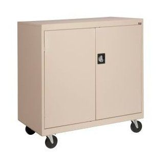 Mobile Storage Cabinet 36x18x36 Sand : Office Products