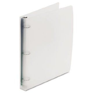 """Translucent Poly Round Ring Binder, """" Capacity, Clear"""